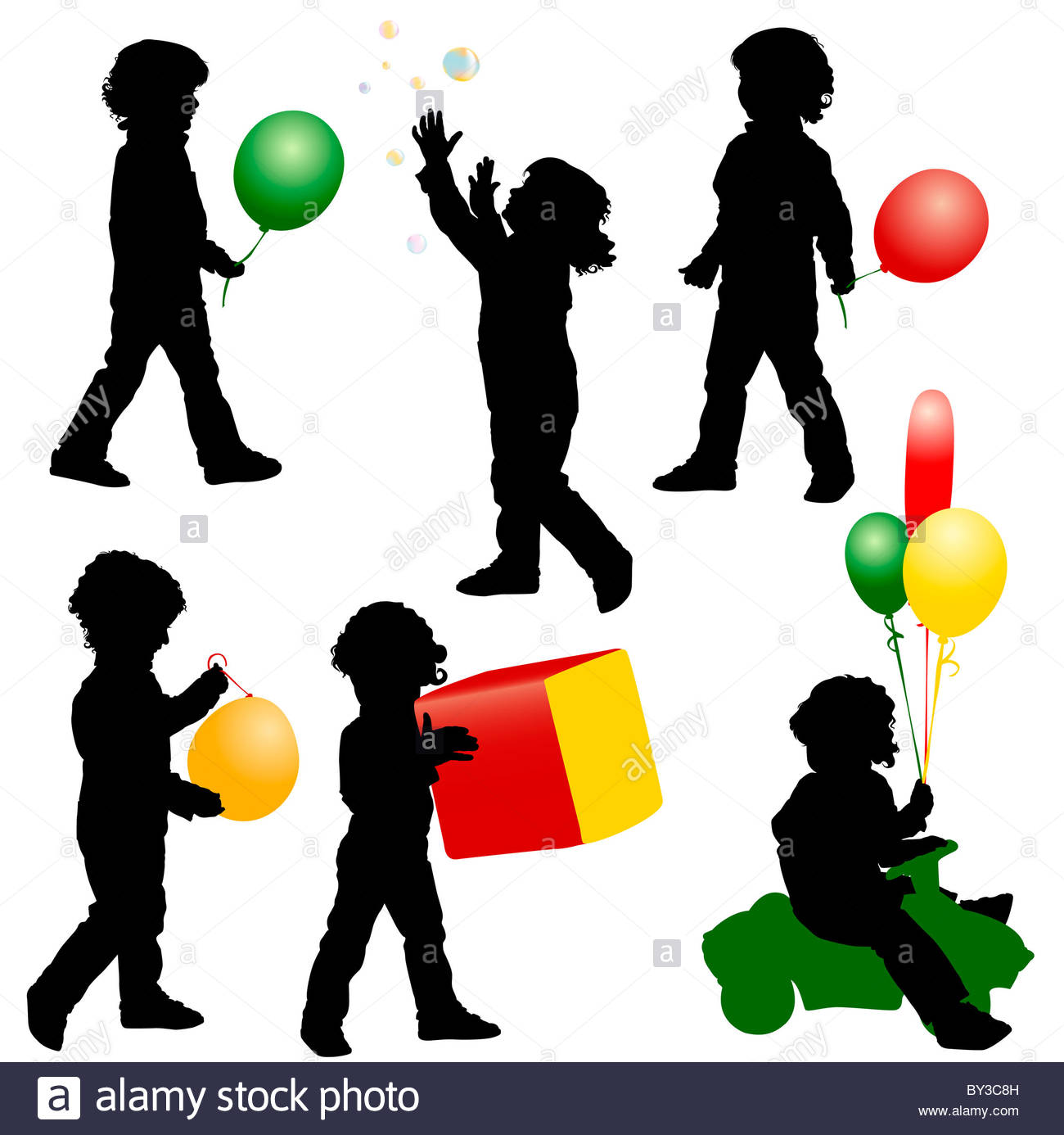1300x1386 The Silhouettes Of A Boy Playing With A Balloon, Bubbles, Toys