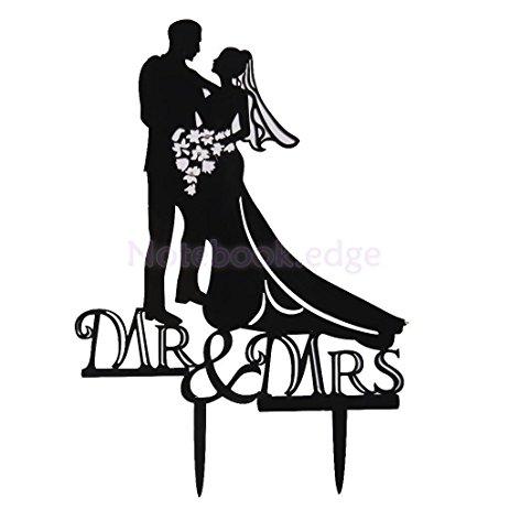 463x463 Bride And Groom Wedding Cake Toppers Romantic Acrylic