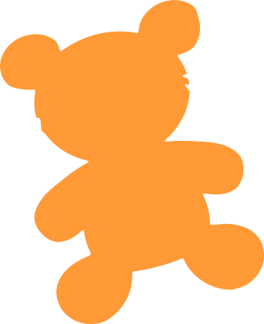375x460 Bear Toy Silhouette