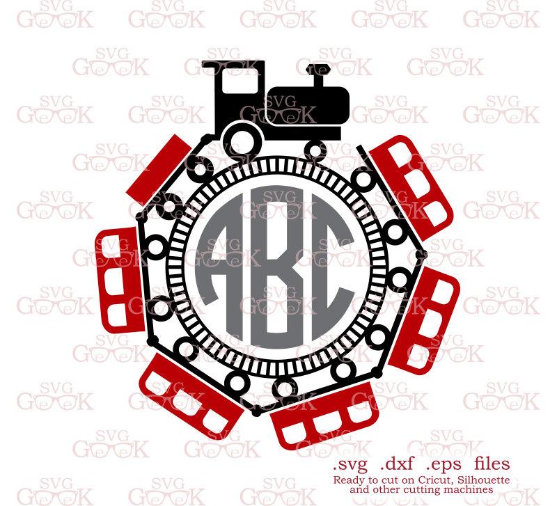 800x727 Train Monogram Frame Svg Cut File, Train Svg Files, Transport Svg