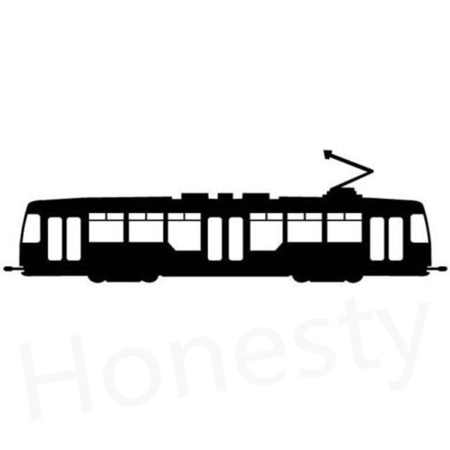 640x640 Train Tram Silhouette Car Wall Home Glass Window Door Car Sticker