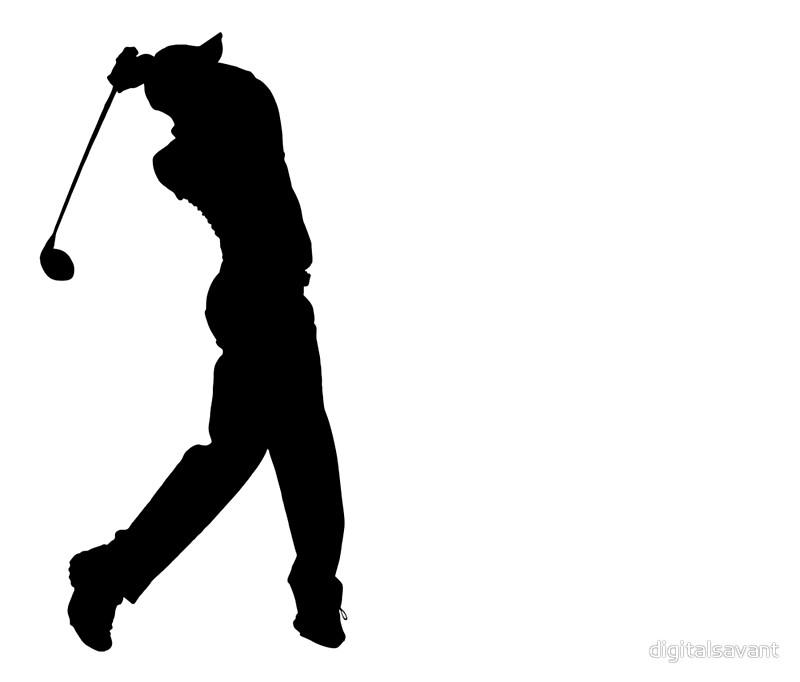 800x682 Pro Golfer Swinging Silhouette Travel Mugs By Digitalsavant