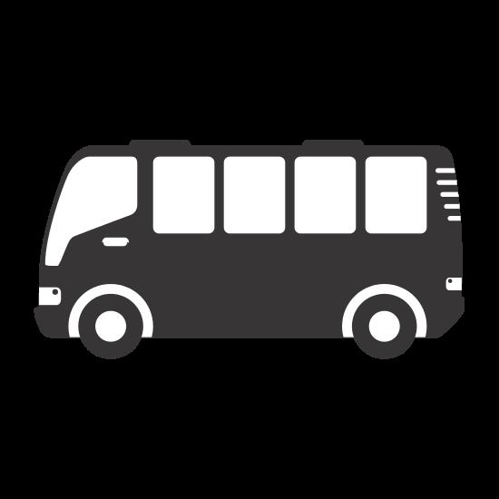 550x550 Silhouette Bus Travel Transport Icon