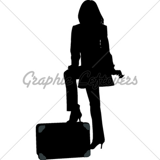 325x325 Silhouette Travel Woman Gl Stock Images