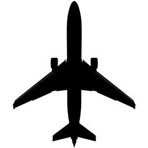 300x300 Boeing Plane Silhouette Clip Art