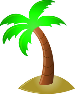 240x300 Palm Tree Clip Art Silhouette Free Clipart Images