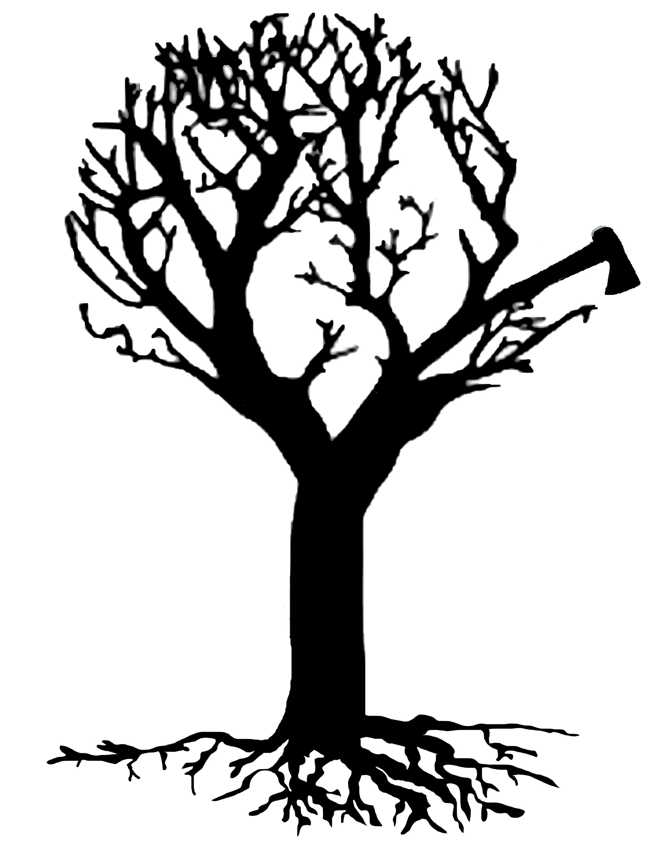 2550x3300 Silhouette Tree Art