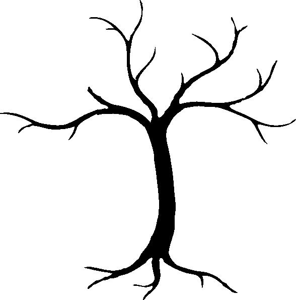 588x595 Sketchy Silhouette Tree Clip Art