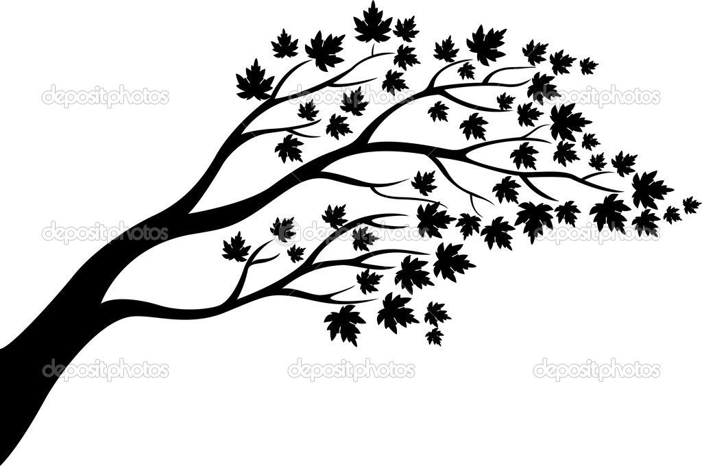 1024x680 Winter Tree Silhouette Winter Tree Silhouette Vector Tree