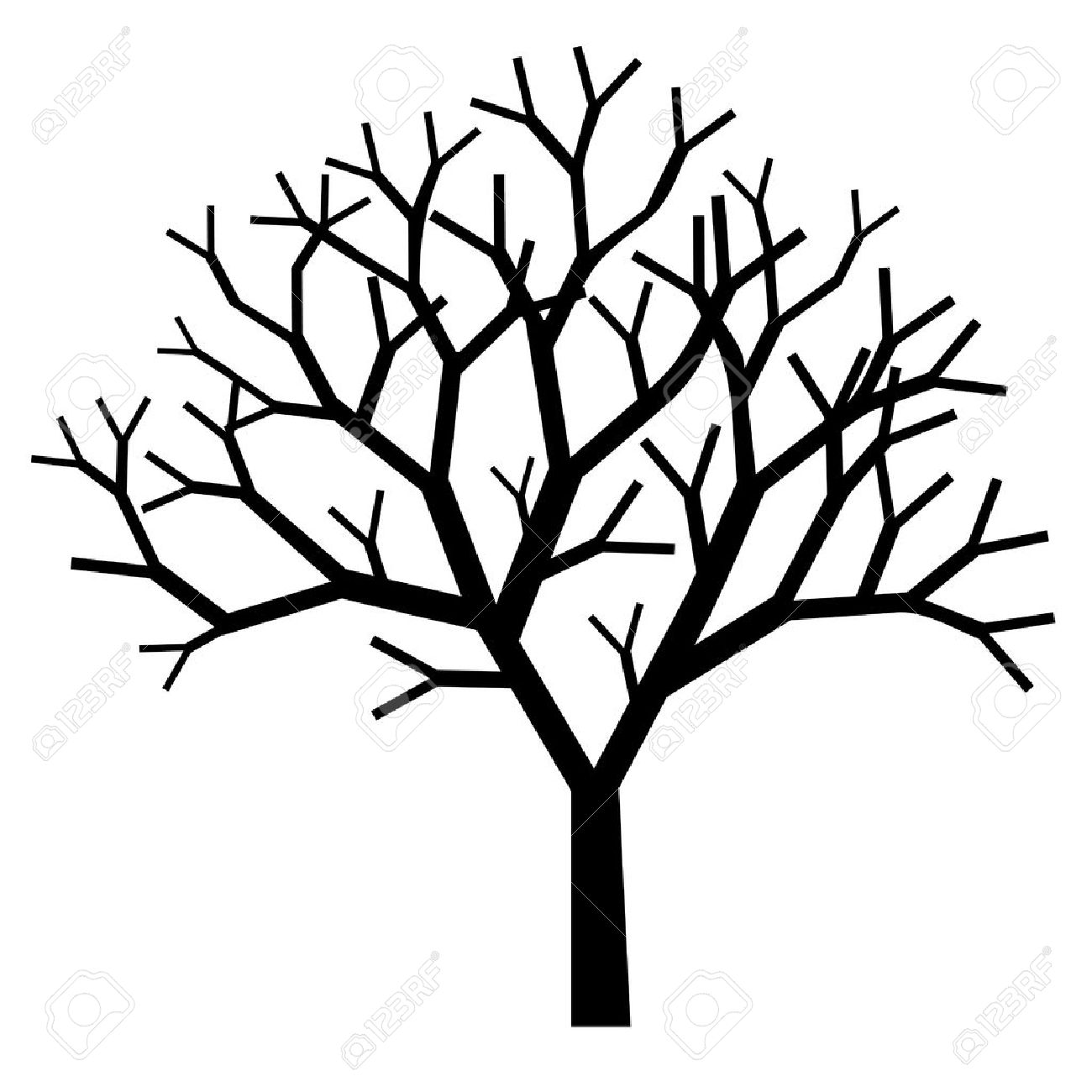 1300x1300 Drawn Dead Tree Silhouette