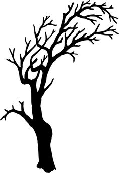 236x341 Leafless Tree Silhouette . To Paint In The Bathroom And Put Hooks