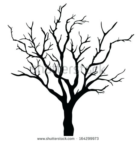450x470 Outline Of A Tree With Branches Bird On Tree Branch Silhouette