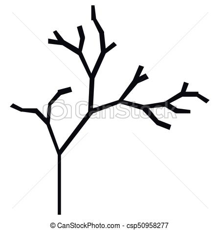 450x470 The Silhouette Of A Tree With A Trunk And Branches Without