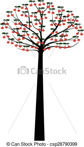 270x470 Decorative Spring Tree Silhouette With Berries