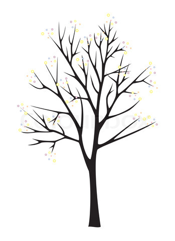 349x480 Black And White Clip Art Forest Trees Stock Image