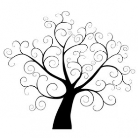 280x280 Tree Silhouette Clipart 7 300x300 Wall Murals Tree