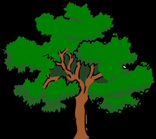 500x444 Clip Art Of Oak Tree 6864 Free Vector Silhouette Public