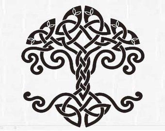 340x270 Kabbalah Symbol Tree Of Life Svg Tree Of Life Silhouette