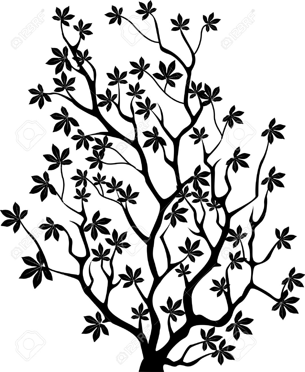 Silhouette Tree Painting