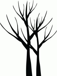 225x300 Leafless Tree Silhouette . To Paint In The Bathroom And Put Hooks