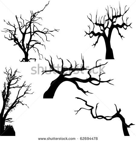 450x470 Wonderful Halloween Tree Tattoos Designs And Ideas