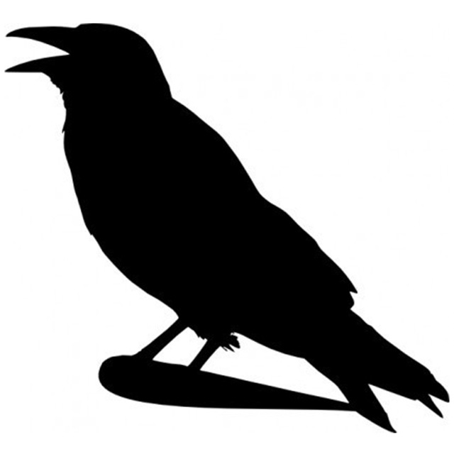 640x640 Crow Silhouette Car Window Sticker Vinyl Decal Funny Jdm