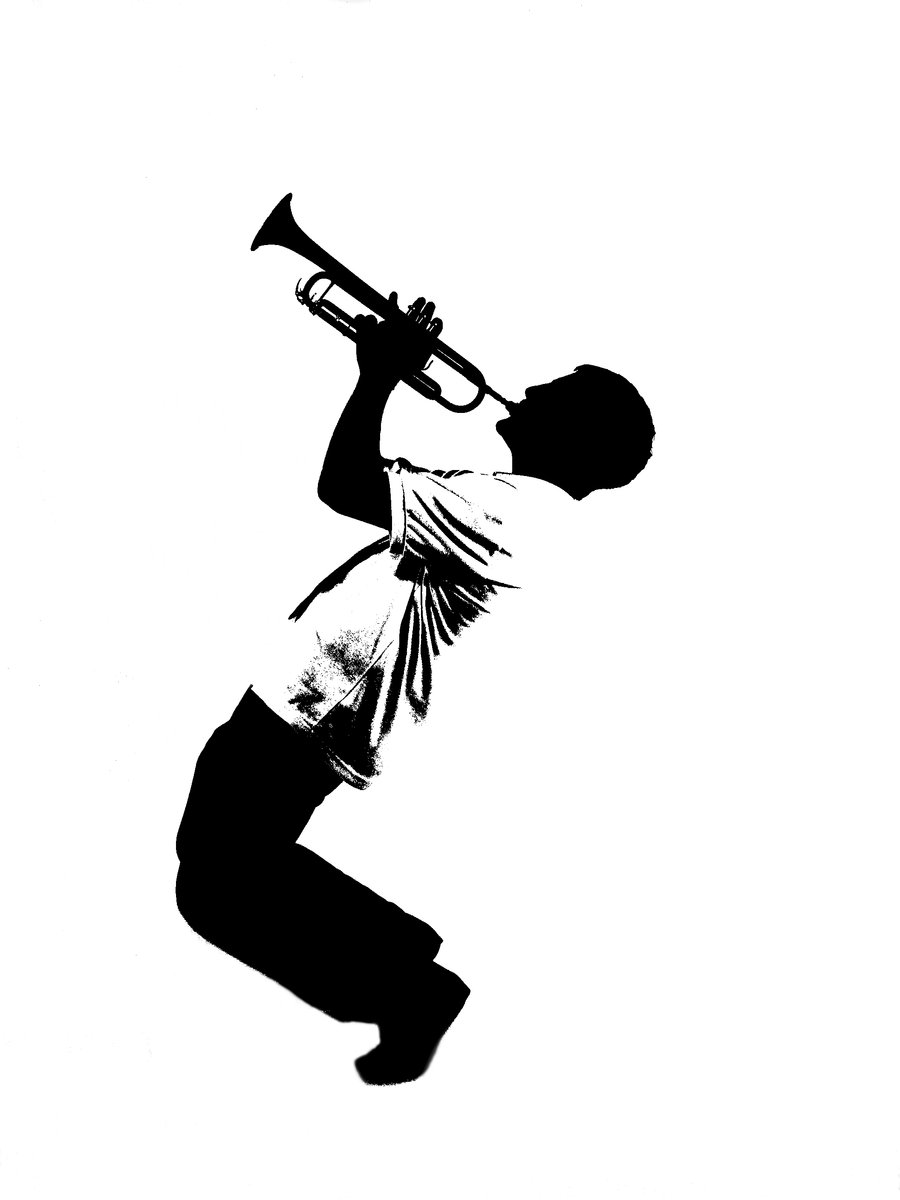 900x1200 Trumpet Silhouette By Charlie Trumpet