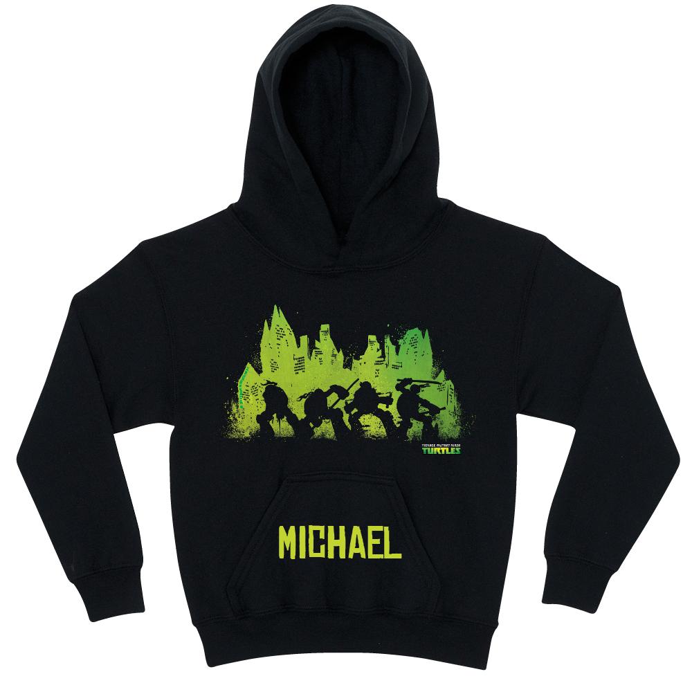 1000x1000 Teenage Mutant Ninja Turtles Silhouette Black Youth Hoodie