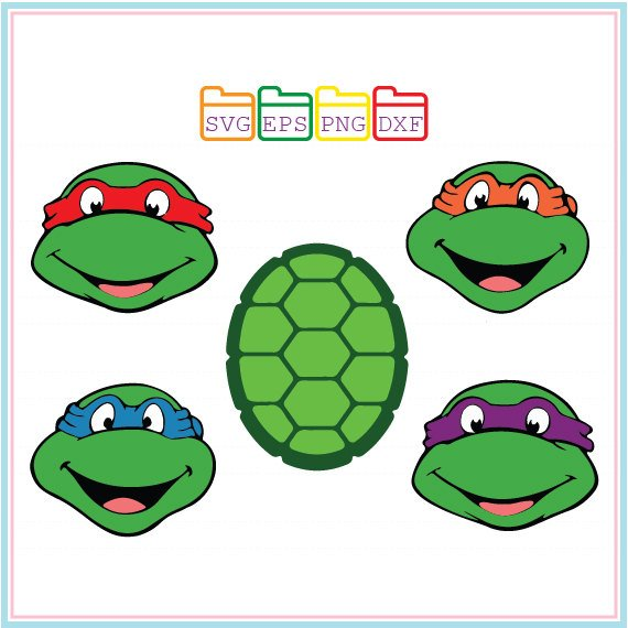 570x570 Teenage Mutant Ninja Turtles Svg Dxf Png Epscutting