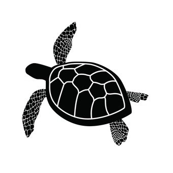 340x340 Free Silhouette Vector Turtle, An Illustration