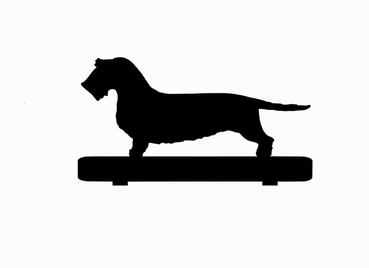 1264x919 Silhouette Stock Vector Art U Illustration Image Dachshund Wire