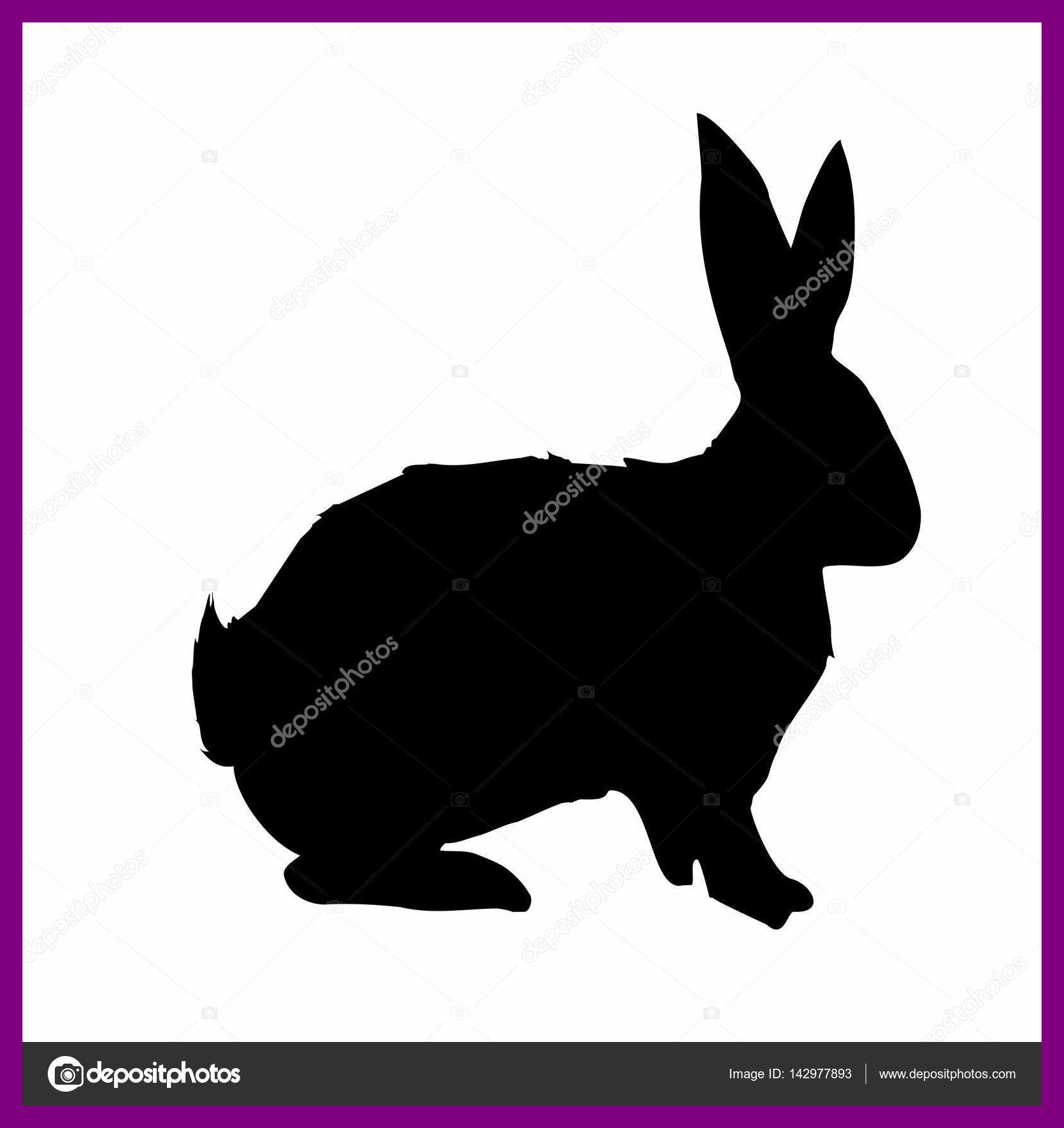 1670x1770 Awesome Bunny Silhouette U Head Ear Easter Vector Image Of Rabbit