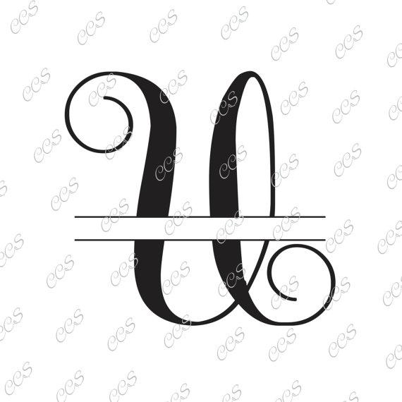 570x570 Digital Cut File, Split Vine Letters