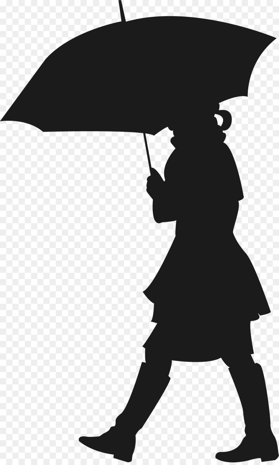 900x1500 The Umbrellas Silhouette Wall Decal Sticker