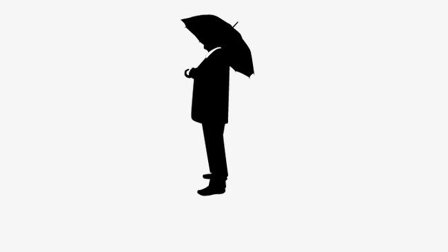 650x366 Umbrella Man Standing, Man Standing, People Standing Silhouette
