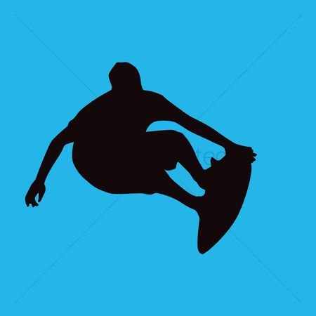 450x450 Free Surfer Silhouette Stock Vectors Stockunlimited