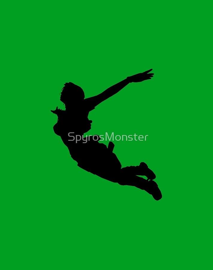 710x900 Lara Croft Silhouette Swan Dive (Tomb Raider Legend) Art Boards