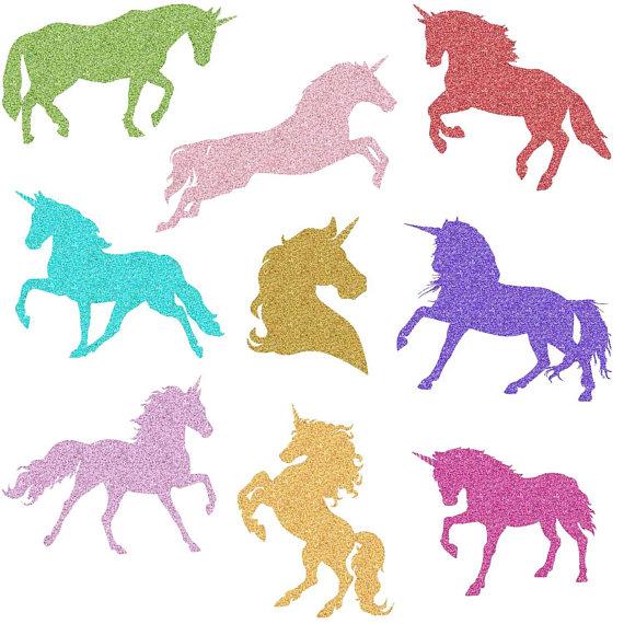 570x570 Rainbow Glitter Unicorn Magical Unicorns Unicorn Silhouette