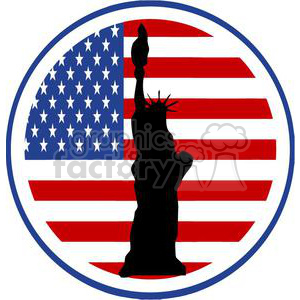 300x300 Royalty Free 2386 Royalty Free State Of Liberty Silhouette In Usa