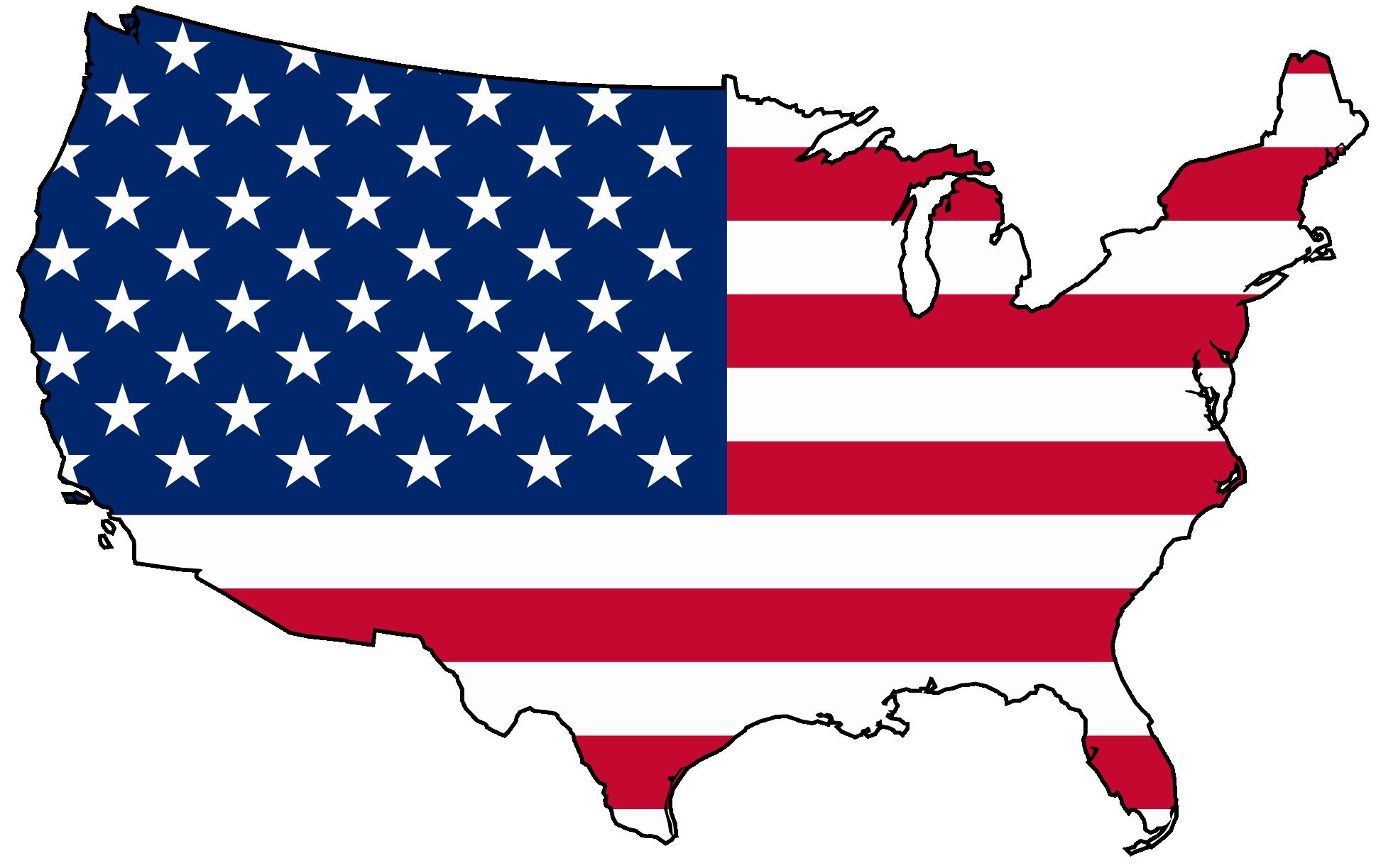 1969x1223 Usa Map Silhouette Usa Clip Art