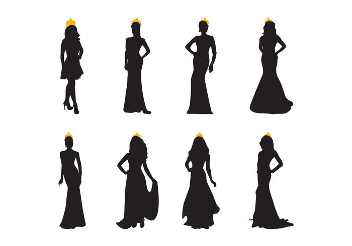 700x490 Free Pageant Silhouette Vector