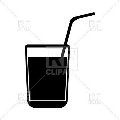 400x400 Juice Glass With Drinking Straw