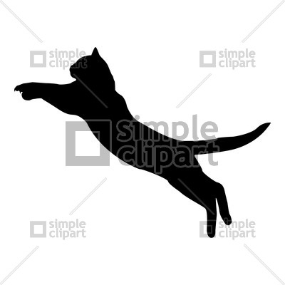 400x400 Silhouette Of Jumping Cat Vector Image