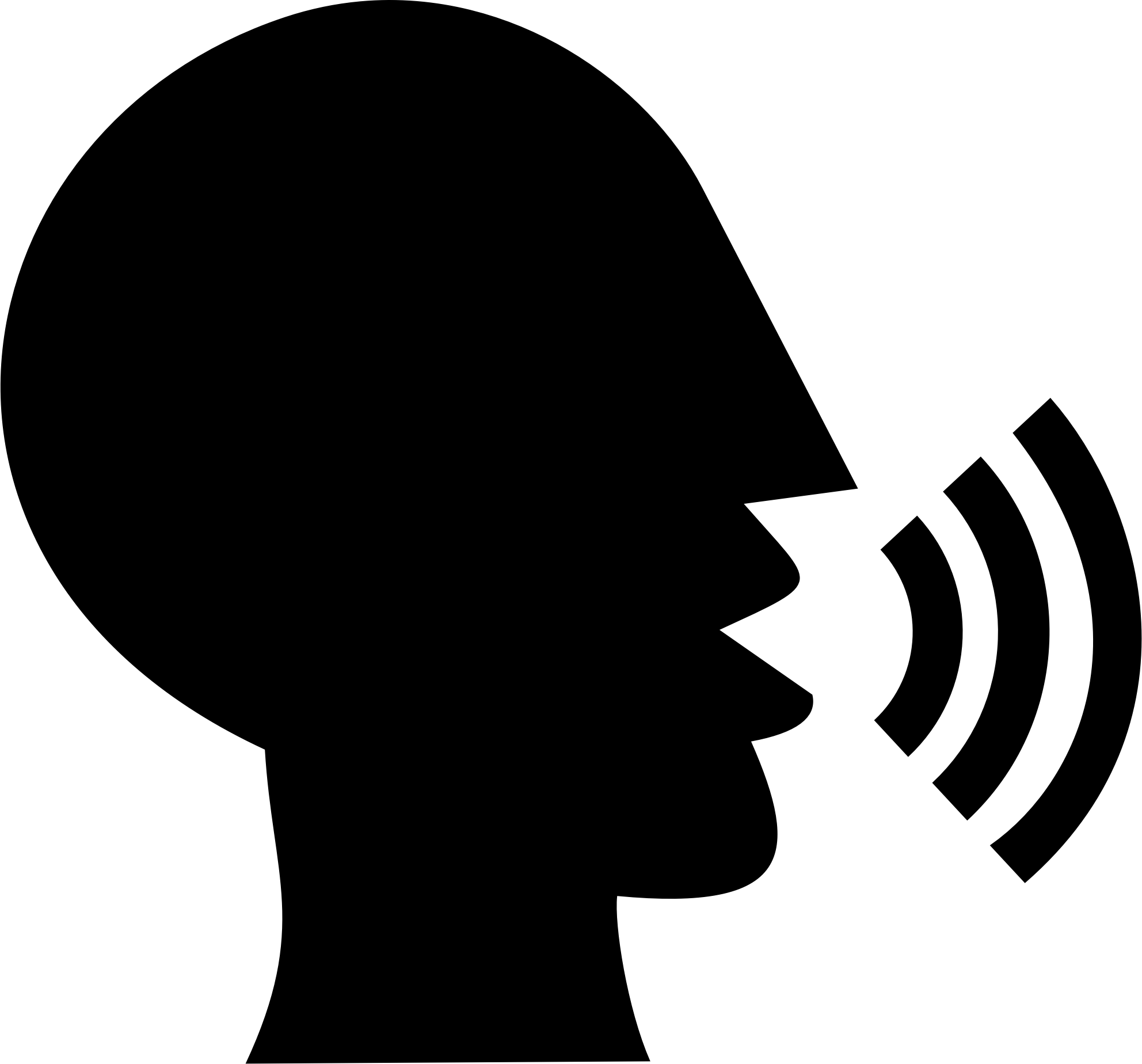 1984x1848 Talking Head Silhouette Vector Clipart Image