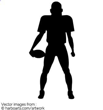 335x355 Download American Football Player Silhouette