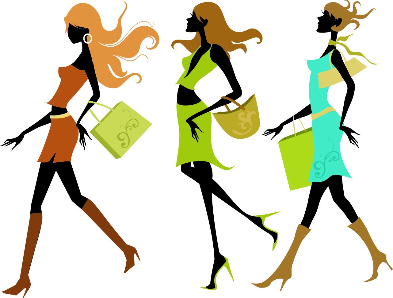1282x971 Fashion Shopping Girl Vector Free Vector 4vector