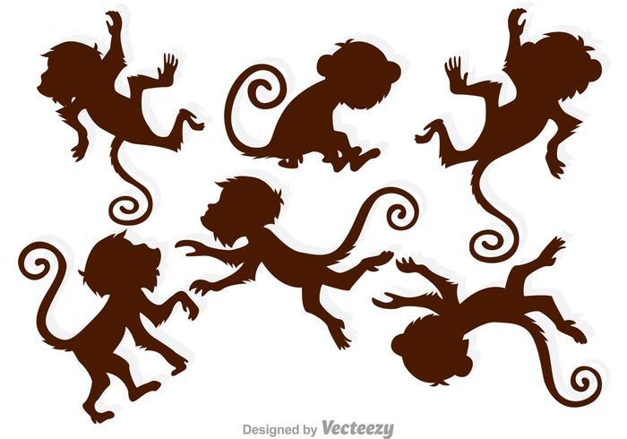 700x490 Brown Monkey Silhouettes