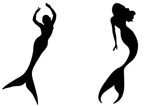500x350 Mermaid Silhouette Free Mermaid Silhouette Vector From Svstock