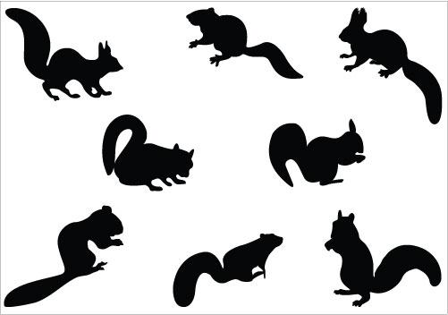 501x352 Squirrel Silhouette Vector Clipart Panda