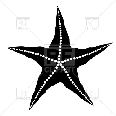 400x400 Silhouette Of Starfish Royalty Free Vector Clip Art Image